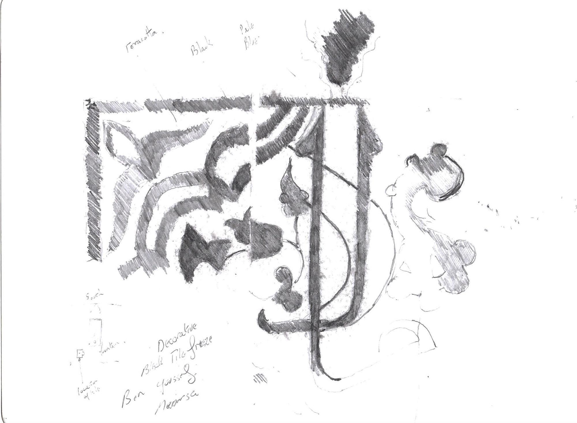 Ben Youseff Madrasa tile